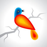 Colourful Bird icon illustration on white background Royalty Free Stock Image