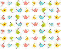 Colourful birds pattern Stock Image