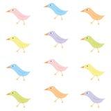 Colourful birds. Set of colourful cute birds Stock Photography