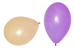 Colourful birthday or party balloons. Isolated on white background Stock Photos