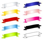 Colourful Blank Banners Ribbons Stock Image