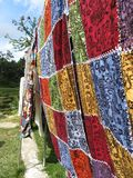 Colourful blankets Royalty Free Stock Images