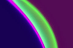 Colourful blur. A green, mauve,pink and purple curved blur Royalty Free Stock Image