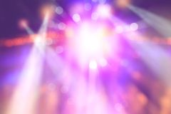 Colourful blurred lights on stage. Abstract image of concert lighting royalty free stock image