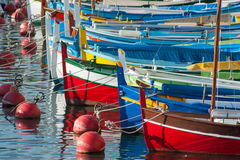 Colourful boats background Stock Photos