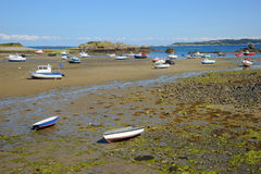 Colourful boats in the bay Guernsey, Channel Islands Royalty Free Stock Photos