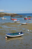 Colourful boats in the bay Guernsey, Channel Islands Royalty Free Stock Images
