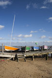 Boats on Southend Beach, Essex, England Stock Images