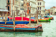 Colourful boats in Venice, Italy Royalty Free Stock Photos