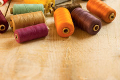 Colourful bobbins Royalty Free Stock Images