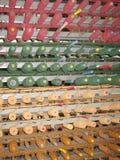 Colourful bobbins or pins Stock Photos