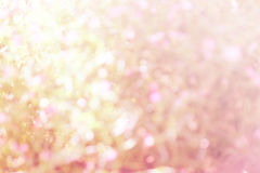 Colourful of bokeh  light blurred with sweet pink Stock Photos
