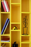 Colourful book shelf in children room Royalty Free Stock Photo