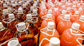 Colourful bottles Royalty Free Stock Photo