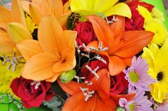 Free Colourful Bouquet Of Flowers Royalty Free Stock Photo - 23701065
