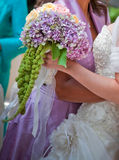 Colourful bouquet in a wedding Stock Photography