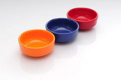 Colourful bowls Stock Photography