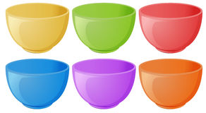 Colourful bowls Royalty Free Stock Images