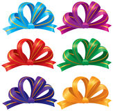 Colourful bows. Set of decorative colourful bows royalty free illustration