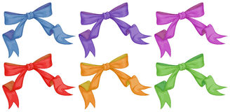Colourful bows Stock Photos