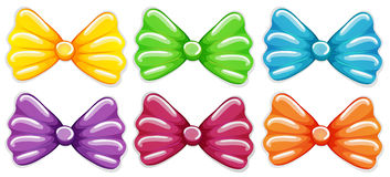 Colourful bows. Lllustration of the colourful bows on a white background Stock Photos