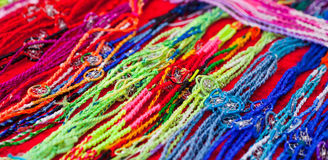 Colourful bracelets Royalty Free Stock Image