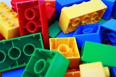 Colourful bricks royalty free stock photo