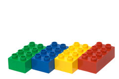 Colourful bricks Royalty Free Stock Images