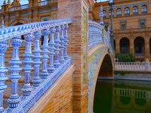 Colourful Bridge in Seville, Spain Stock Images