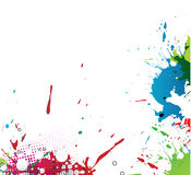 Colourful bright ink splat design Royalty Free Stock Photography