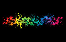Colourful bright ink splat design Royalty Free Stock Images