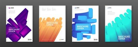 Colourful broszurek pokrywy ustawiać Zdjęcie Royalty Free