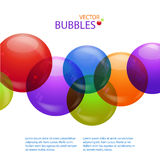 Colourful bubble background Stock Image