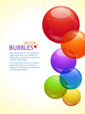 Colourful bubble background portrait Stock Photo