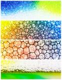 Colourful bubble collage Stock Photo