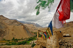 Colourful Buddhist Prayer Flags Stock Image