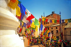 Colourful Buddhist Prayer Flags Stock Photography