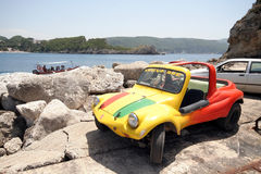 Colourful buggy car Stock Images