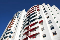Colourful building. Colourful balconies of housing building Royalty Free Stock Photo