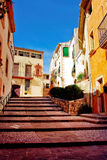 Colourful building. S in Spain, it is very nice street stock photography