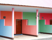 Colourful building of resort Royalty Free Stock Photo