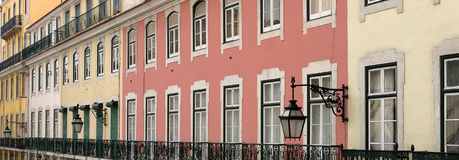 Colourful buildings. Row of colourful terraced buildings Royalty Free Stock Photo