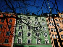 Colourful buildings Royalty Free Stock Photos