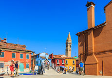 Colourful buildings on Burano island Royalty Free Stock Photo