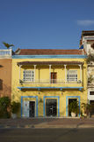 Colourful buildings of Cartagena de Indias in Colombia Royalty Free Stock Images