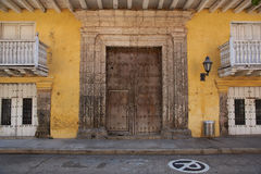 Colourful Buildings in Cartagena de Indias Royalty Free Stock Photos