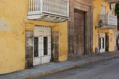 Colourful Buildings in Cartagena de Indias Stock Photos