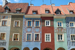 Colourful buildings on marketplace in Poznan Royalty Free Stock Photo