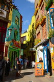 Colourful buildings at Neal's Yard in London. The colourful buildings at Neal's Yard in London Royalty Free Stock Photo