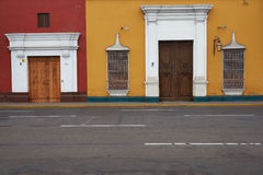 Colourful Buildings of Peru Stock Photo
